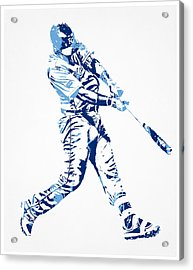 Salvador Perez Kansas City Royals Pixel Art 3 Acrylic Print