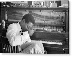 Sam Cooke At The Piano Acrylic Print by Michael Ochs Archives