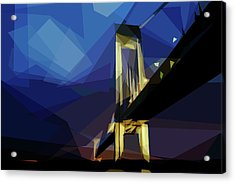 Acrylic Print featuring the digital art San Francisco Bridge by ISAW Company