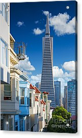 San Francisco Downtown. Famous Typical Acrylic Print