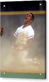 San Francisco Giants V Cincinnati Reds Acrylic Print by Ronald C. Modra/sports Imagery