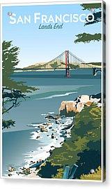 San Francisco Lands End Acrylic Print