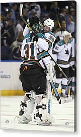 San Jose Sharks V St. Louis Blues - Acrylic Print by Dilip Vishwanat