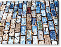San Juan Blue Cobblestone Style Acrylic Print