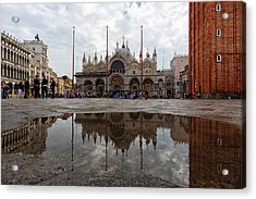 Acrylic Print featuring the photograph San Marco Cathedral Venice Italy by Nathan Bush