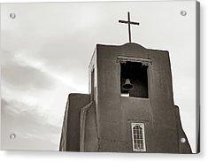 San Miguel Mission Chapel - Santa Fe New Mexico In Classic Sepia Acrylic Print