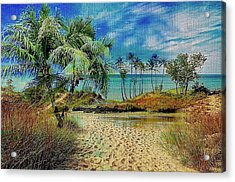 Sand To The Shore Montage Acrylic Print
