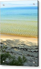 Sandy Blue Acrylic Print