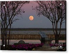 Sanford Riverwalk-moonrise-9395 Acrylic Print