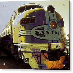 Santa Fe Railroad 347c - Digital Artwork Acrylic Print