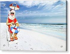 Santa Lifeguard Acrylic Print