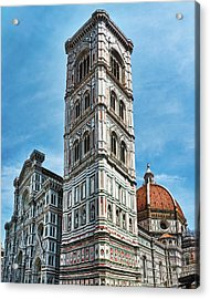 Santa Maria Del Fiore Cathedral Doorway And Bell Tower Acrylic Print