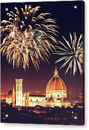 Santa Maria Del Fiore Dome In Florence Acrylic Print by Franckreporter