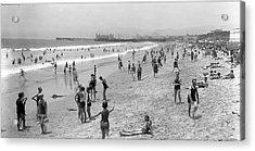 Santa Monica Beach Circa 1920 Acrylic Print
