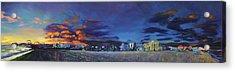 Santa Monica Sunset Panorama Acrylic Print