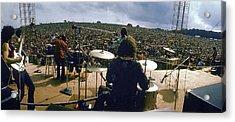 Santana Onstage At Woodstock Acrylic Print by Bill Eppridge