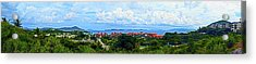Sapphire Panorama Acrylic Print
