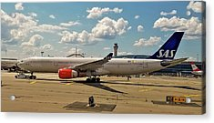 Sas Airbus A330 At Newark Liberty International Airport Acrylic Print