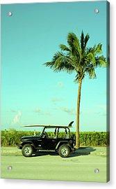 Saturday Surfer Jeep Acrylic Print
