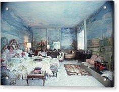 Saunderson Bedroom Acrylic Print by Slim Aarons