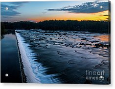 Savannah Rapids Sunrise - Augusta Ga Acrylic Print