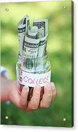 Savings For College Acrylic Print by Weekend Images Inc.