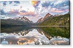Sawtooth Sunrise Acrylic Print