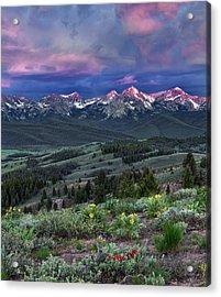 Sawtooth Sunrise Acrylic Print by Leland D Howard