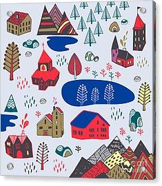 Scandinavian Style. Vector Illustration Acrylic Print