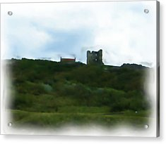 Scarborough Castle Painting Acrylic Print