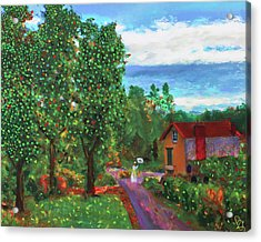 Scene From Giverny Acrylic Print