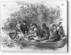 Scene From Longfellows Evangeline Acrylic Print by Kean Collection