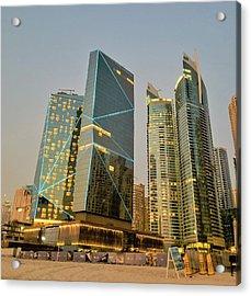 Scene Of Dubai Marina, Dubai, United Arab Emirates Acrylic Print