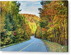 Acrylic Print featuring the photograph Scenic Drive In Autumn by Pierre Leclerc Photography