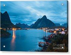 Scenic Landscape On Lofoten Islands Acrylic Print
