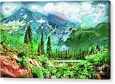 Scenic Mountain Lake Acrylic Print