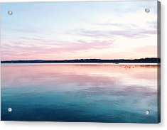 Scenic View Of Calm Sea Against Cloudy Acrylic Print by Thomas Weng / Eyeem