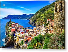 Scenic View Of Colorful Village Acrylic Print