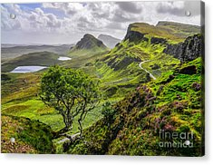 Scenic View Of Quiraing Mountains In Acrylic Print