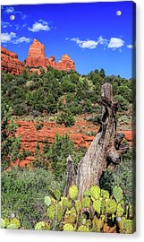 Acrylic Print featuring the photograph Schnebly Hill View, Sedona by Dawn Richards
