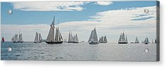Acrylic Print featuring the photograph Schooners On The Chesapeake Bay by Mark Duehmig
