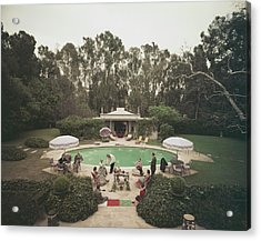 Scone Madam Acrylic Print by Slim Aarons