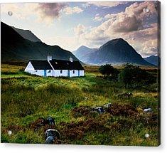 Scotland,glencoe,black Rock Cottage Acrylic Print by Charlie Waite