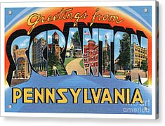 Scranton Greetings Acrylic Print