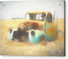 Scrap Car Acrylic Print