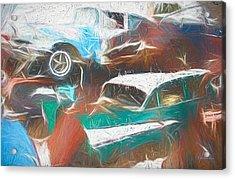 Scrap Cars Acrylic Print