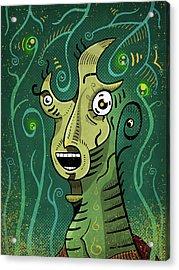 Acrylic Print featuring the digital art Scream by Sotuland Art