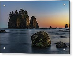Acrylic Print featuring the photograph Sea Stacks At La Push by Ed Clark