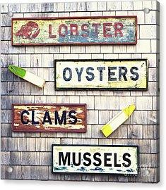 Seafood Signs Acrylic Print