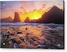 Seal Rock Beach Sunset Acrylic Print